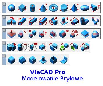Polecenia Bryłowe ViaCAD w modelowaniu 3D bryłowym