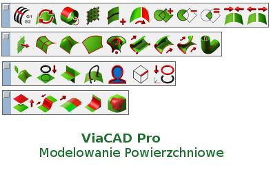 Polecenia w ViaCAD w modelowaniu 3D powierzchniowym
