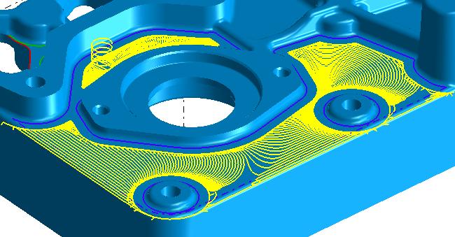 SmartCAM CAD CAM Adaptive Rough Region