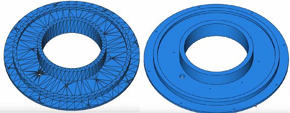 Zamiana stl na bryłę. Zamiana modelu stl na model bryłowy. Dzięki temu można dalej pracować jak z każdym plikiem 3D.