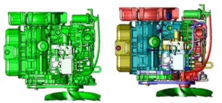 Segregacja elementów poprzez kolory w programie cad