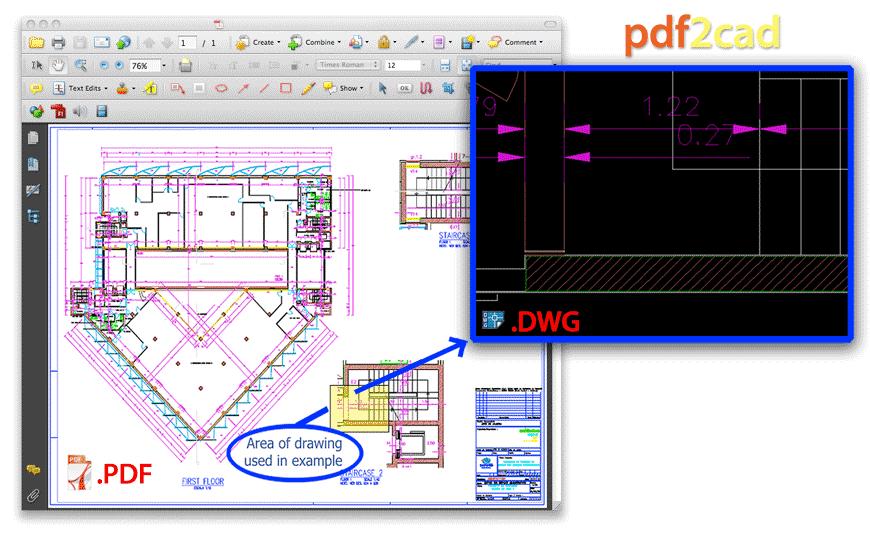Zamiana pdf do dwg. Konwersja pdf do dwg już z programem ViaCAD