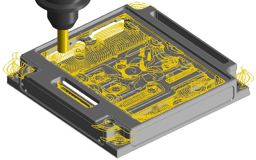 Obróbka 3D planar Adaptive HSM z modelu 3D