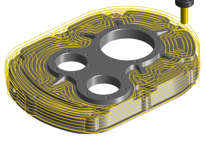 Obróbka 3D klasyczny planar w programie CAM
