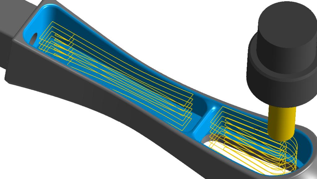 Obróbka 3D klasyczną kieszenią w programie CAM
