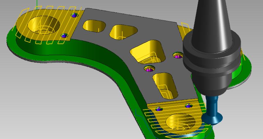 Symulacja, analiza i kontrola trajektorii narzędzia w symulatorze CAM.
