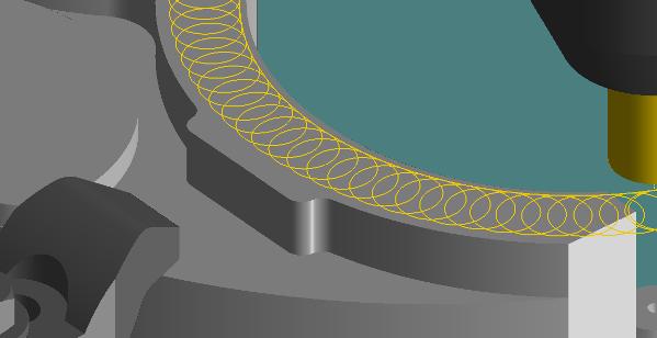 Cykl trochoidalny sprawdzi się w trudno obrabialnych materiałach.