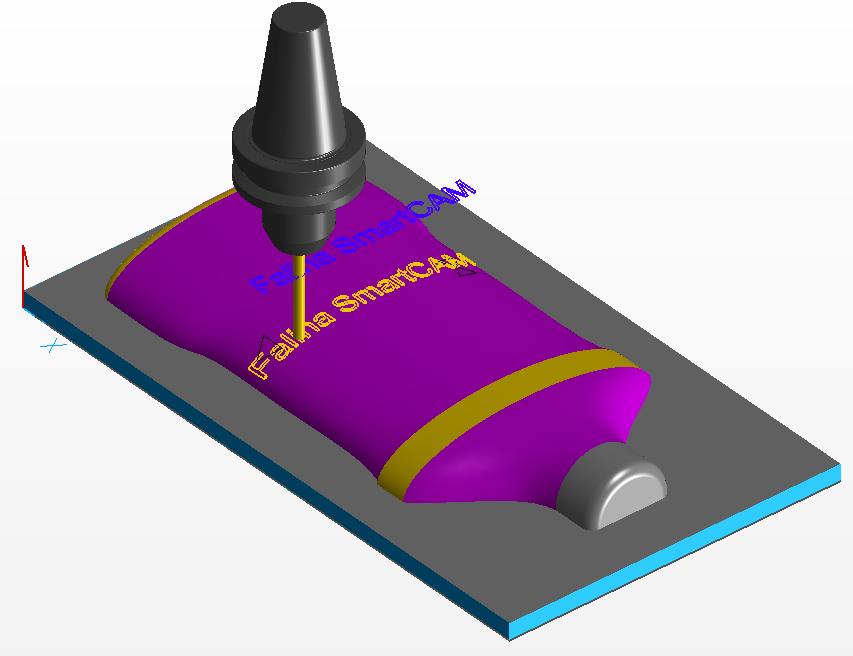 Frezowanie 3D rzutowana