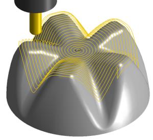 Frezowanie 3D promieniowe spiralne