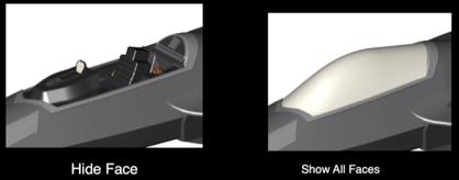 Ukrywanie ścian modelu 3D