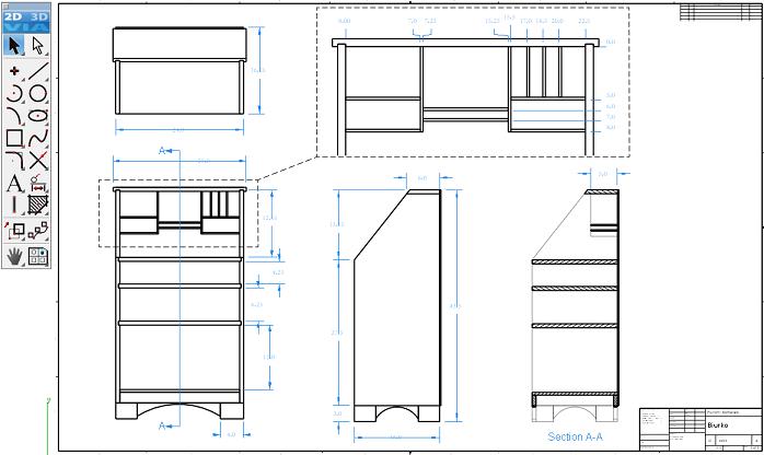 Rzuty 2D w programie CAD intucyjne i szybkie do wykonania