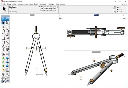 Projektowanie CAD - Interfejs programu CAD do projektowania ViaCAD 3D