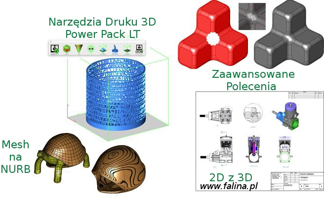 Program 3D - polecenia CAD