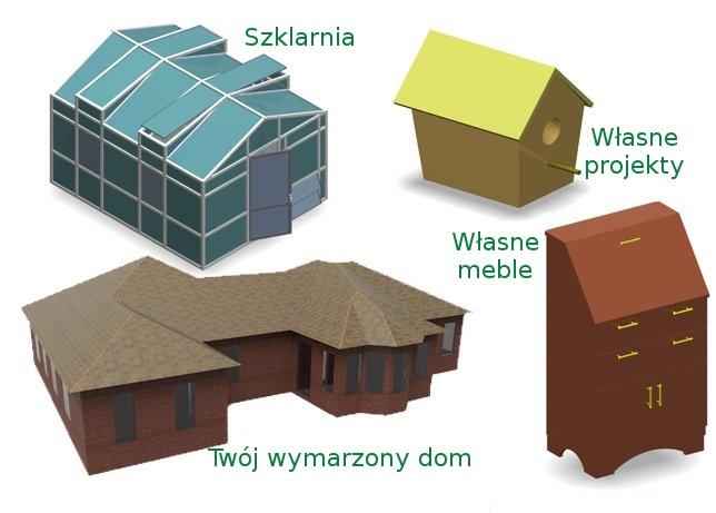 Model Szklarni, domu czy mebli  wszystko to jest możliwe w programach cad ViaCAD lub SharkCAD