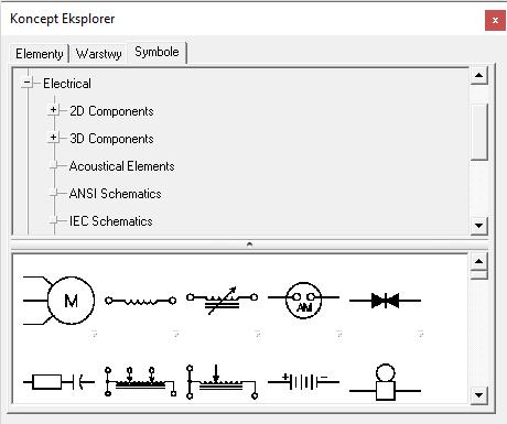 Biblioteka schematów elektrycznych pneumatycznych mechanicznych