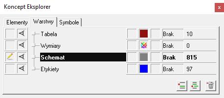 Schematy na warstwach w oprogramowaniu CAD