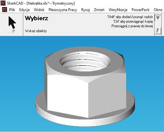 Darmowy kurs CAD Nakrętka 3D model