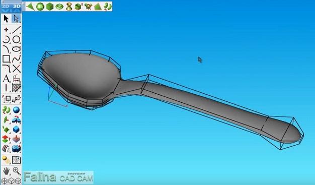 Modelowanie łyżki w programie ViaCAD