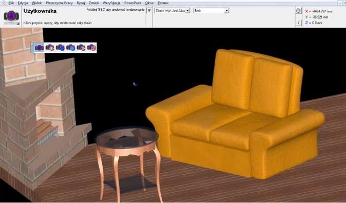 Sofa 3D - model z renderowaniem sceny