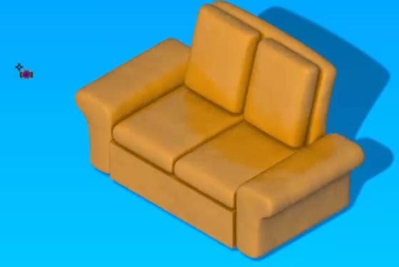 Render modelu 3D kanapa 3D